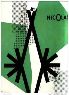 Original-Anzeige /Publicité 1957 - (en français) NICOLAS - ca. 200 x 270 mm