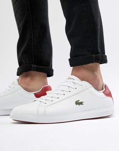 0aa2aea04ba7d9 Lacoste Graduate Sneakers In White leather