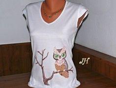 Výsledok vyhľadávania obrázkov pre dopyt maľovaná sova na tričku