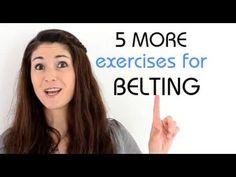 Freya's Singing Tips: 5 MORE exercises for BELTING - YouTube