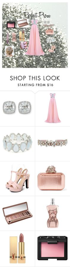 """""""Perfect Prom"""" by missjordanlaceylovesxx on Polyvore featuring Frederic Sage, Kim Rogers, Accessorize, Jimmy Choo, Urban Decay, Jean-Paul Gaultier, Yves Saint Laurent, Essie, NARS Cosmetics and Maybelline"""