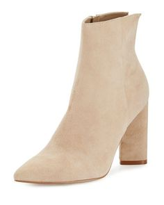 Gemma+Suede+Triangle-Heel+Bootie,+Sand+by+Kendall+++Kylie+at+Neiman+Marcus.