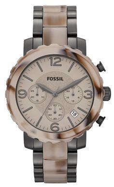 Fossil Natalie Alpine Horn & Gunmetal Watch