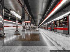 La station Letnany à Prague, République tchèque