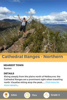 Cathederal ranges (Southern) - A fantastic, challenge trek just outside of Melbourne, Australia. Day Hike, Melbourne Australia, Ranges, Walks, Trek, Cathedral, Hiking, Challenges, Mountains