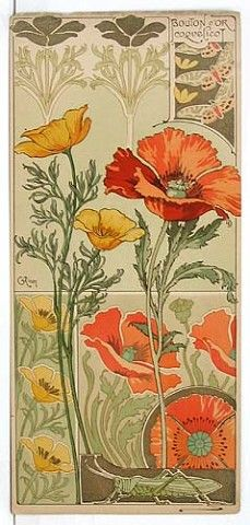 Цветочные этюды эпохи модерн, 1890г.(Франция)   OK.RU