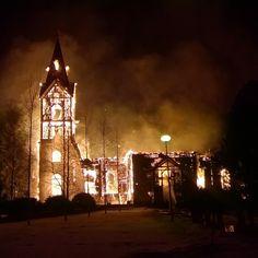 Semmone #pääsiäiskokko #church #bonfire #plzdonthateme #ylivieska #easter #fire #burning