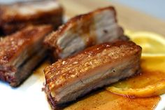 Five Spiced Pork Belly with Orange and Quince Glaze - Weber