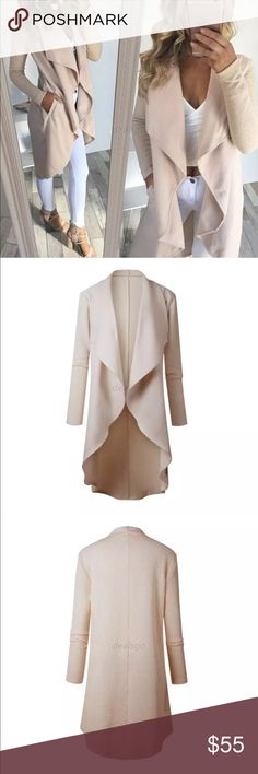 GORGEOUS CREAM FLOWY CARDIGAN  Super cute flowy cardigan - polyester & cotton - runs a size small so order a bigger size. Preorder item - shipping will take up to 2 weeks for some sizes Sweaters Cardigans