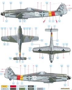 Here is the Focke Wulf Fw 190D-9 JG 301 Camouflage Color Profile