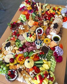 We are drooling over this ginormous spread by. We are drooling over this ginormous spread by… Saturday grazing table perfection! We are drooling over this ginormous spread by Party Platters, Party Trays, Snacks Für Party, Cheese Platters, Food Platters, Table Party, Party Appetizers, Catering Platters, Catering Food
