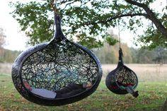 Handmade basalt fiber hanging chair