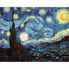 "I love Vincent Van Gogh's ""The Starry Night"" painting."