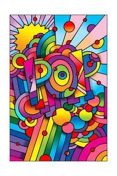 Giclee Print: Pop 1 by Howie Green : 24x16in Stretched Canvas Prints, Canvas Art Prints, Framed Canvas, Framed Prints, Pop Art Vector, Graffiti Kunst, Diy Kit, Hippie Art, Green Art