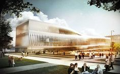 Helsinki Public Library by JDS Architects in Helsinki, Finland Helsinki, Landscape Architecture Drawing, Facade Architecture, Futuristic Architecture, Classical Architecture, Modern Architects, Famous Architects, Public Library Design, Great Buildings And Structures