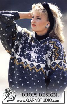 """DROPS 11-12 - DROPS jumper with reindeer pattern in """"Karisma. Size S – L. - Free pattern by DROPS Design"""