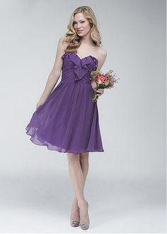Stunning Sweetheart Neckline Natural Waistline Knee-length A-line Bridesmaid Dress