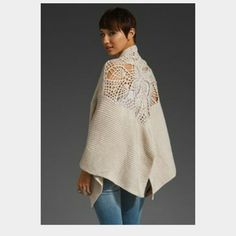 NWT Free People handicraft crochet wrap NWT wrap in ivory color. One hook and eye closure. One size fits most. 100% acrylic. Google style name for more pictures. No trades or PayPal. Can list cheaper on Mercari. Free People Sweaters Shrugs & Ponchos