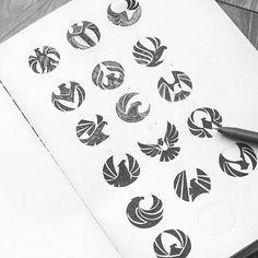 Logo inspiration: Beautiful Bird Marks by Bratus Hire quality logo and branding … – Design Logo Inspiration, Logo Typo, Logo Branding, Logo Luxury, Typographie Logo, Logo Sketches, Logo Process, Bird Logos, Eagle Logo
