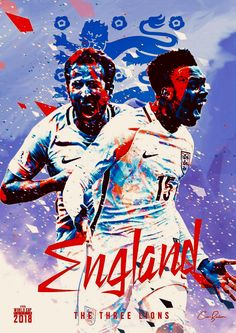 England : The Three Lions! Fifa Football, Football Art, National Football Teams, Football Memes, England Players, England Fans, World Cup 2018 Teams, Fifa World Cup, Albert Camus