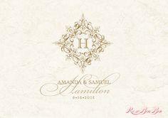 Custom Wedding Monogram Wedding logo by RoseBonBonShop on Etsy