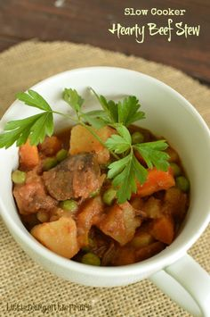 Slow Cooker Beef Stew is the best. The meat is absolutely falling apart, the veggies are perfect. My favorite! | Little Dairy on the Prairie