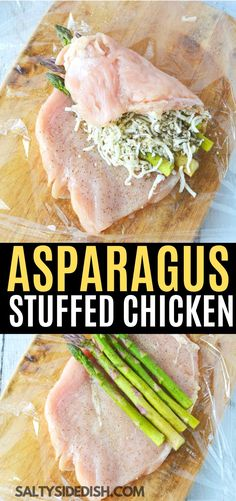 Asparagus Stuffed Chicken a fast and easy chicken breast recipe that will knock your socks off. Roll out your chicken and stuff with melty cheese and perfect asparagus spears to create an under 30 minute recipe that you can enjoy any night of the week. Best Asparagus Recipe, Baked Chicken Breast, Meals With Chicken Breast, Easy Chicken Breast Dinner, Healthy Stuffed Chicken Breast, Chicken Breast Recipes Healthy, Cooking Recipes, Healthy Recipes, Healthy Asparagus Recipes