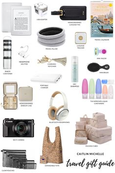 The perfect gift guide for the traveler in your life! Travel Packing, Travel Bags, Packing Tips, Packing Cubes, Shopping Travel, Travel Size Toiletries, Monogrammed Luggage Tags, Road Trip Essentials, Travel Humor