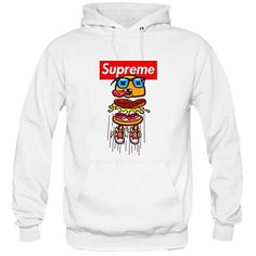 Jump Burger Hoodie White * Fabric : 100% preshrunk cotton * Available Color : Black and White * Size : Small, Medium, Large, X-Large, XX-Large * Professionally designed & printed #clothing #apparel #sweatshirt #supreme #supremeApparel #supremeSweatshirt