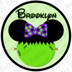 Halloween IRON ON TRANSFER  Mickey or Minnie by babyfables on Etsy, $5.00