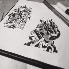 Drawing impro #brussels #illustration #blackandwhite #sketchbook #pleasure #creative #drawing #Belgium #__vebe__