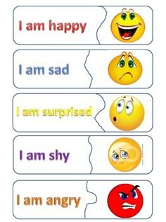 "TESOL Fun Easy Matching Game for learning some different emotions.Fits well with the ""If You& Happy"" song. Deutsch Album Design Services Unser U. Learning English For Kids, English Worksheets For Kids, English Lessons For Kids, Kids English, English Language Learning, Teaching English, Learn English, English Activities, Feelings Preschool"