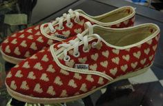 Vans Vintage Needlepoint Hearts... brang this shizzle back.