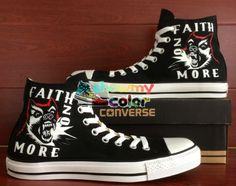 Black Shoes Women Men Shoes California Faith No More Design Hand 8860995e4b82
