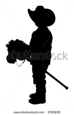child cowboy silhouette - Bing Images