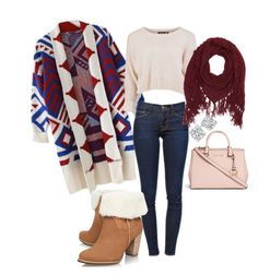 """Untitled #1"" by thatgirljennyfa on Polyvore featuring Frame Denim, UGG Australia, Charlotte Russe and Michael Kors"