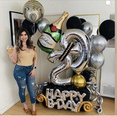Balloon Tower, Balloon Arch, Balloon Garland, Balloon Ideas, Number Balloons, Letter Balloons, Birthday Balloon Decorations, Birthday Balloons, Balloon Bouquet Delivery