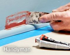 Use auto bonding glazing to fill cracks and small holes. Use for basement baseboard?
