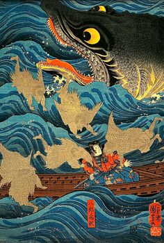 Woodblock print by Utagawa Kuniyoshi (1797-1861), Japan 歌川 国芳