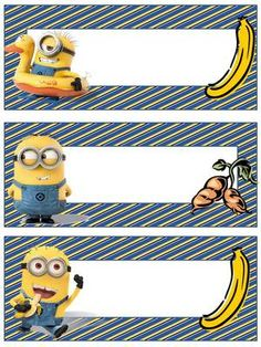 Free Editable Name Tags Minions |