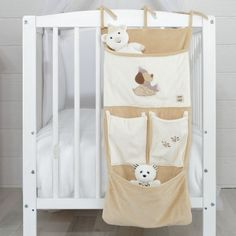 "Cot bed tidy for baby boy ""Doggy love"" #cotbedtidy #babyboy #doggylove"