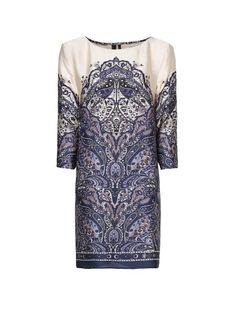 MANGO - Printed straight-cut dress