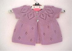 Crochet Pattern for Baby Cardigan Sweater Sunburst Cardigan Baby Girl Cardigans, Baby Cardigan, Girls Sweaters, Baby Sweaters, Baby Knitting Patterns, Baby Patterns, Crochet Pattern, Vintage Knitting, Lace Knitting