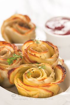 Baked Potato Roses : currytrail