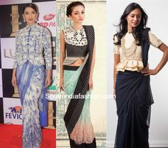 Latest tops designs patterns you can wear as saree blouse like sequins,chevron, crop top,collar,off shoulder,halter,capes,corset, peplum etc.