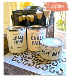 Chalk Paint® decorative paint by Annie Sloan and stencil supplies for furniture stenciling with Royal Design Studio stencils.