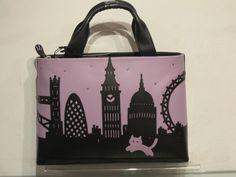 New Season Ciccia London Skyline Silhouette Leather Handbag Fashion Cupcakes