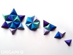 Easy DIY Paper Wall Art, origami pyramids tutorial