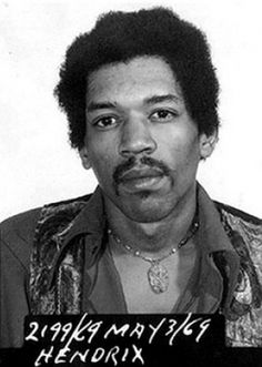 Guitar legend Jimi Hendrix was arrested at the Toronto, ONT airport in May of 1969 for possession of heroin and hashish. Which is weird, because who thinks of mind-expanding drugs when they listen to his music?    Luckily, Canadian official believed Jimi's story, that a well-meaning fan had slipped the junk into his luggage as a present, and Hendrix was cleared of all charges.