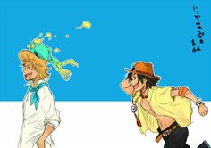 Thatch, Marco the pheonix and Ace #one piece